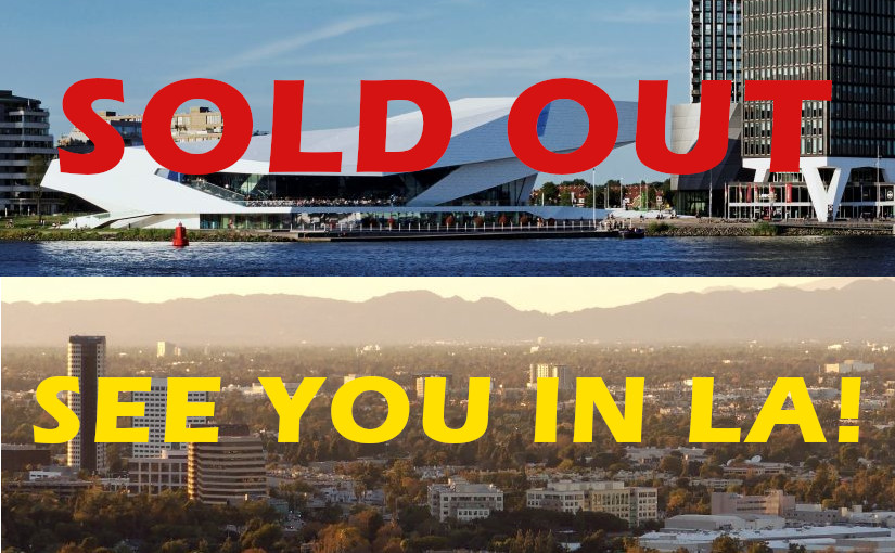Amsterdam workshop sold-out!