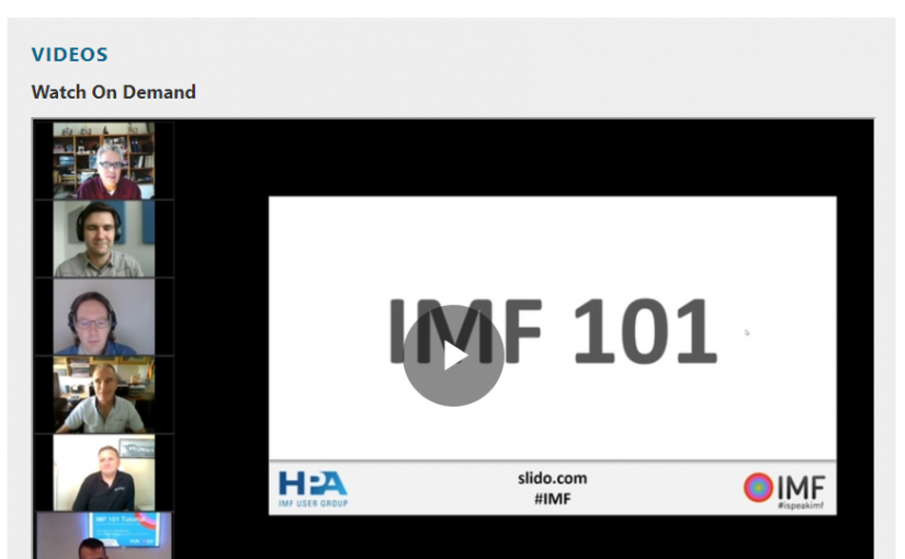 Recording available: IMF 101 Tutorial and Q&A (May 11)